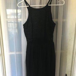 BCX Black Peekaboo Dress